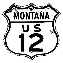 Historic shield for US 12 in Montana