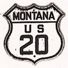 Historic shield for US 20 in Montana