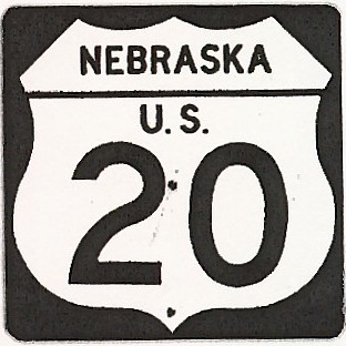 Historic shield for US 20 in Nebraska