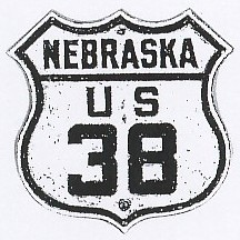 Historic shield for US 38 in Nebraska