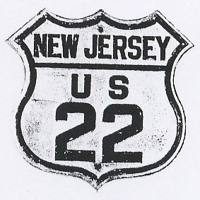Historic shield for US 22 in New Jersey
