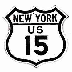 Historic shield for US 15 in New York