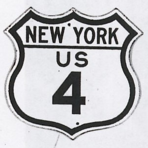 Historic shield for US 4 in New York
