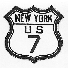Historic shield for US 7 in New York