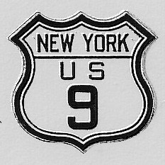 Historic shield for US 9 in New York