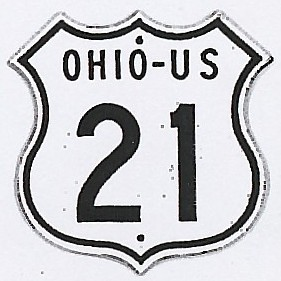Historic shield for US 21 in Ohio