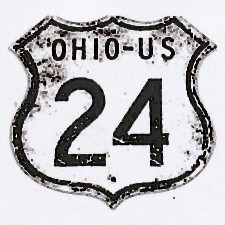 Historic shield for US 24 in Ohio