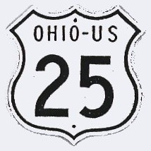Historic shield for US 25 in Ohio