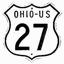 Historic shield for US 27 in Ohio
