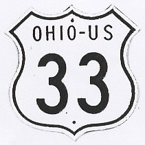 Historic shield for US 33 in Ohio