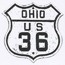 Historic shield for US 36 in Ohio