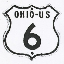 Historic shield for US 6 in Ohio