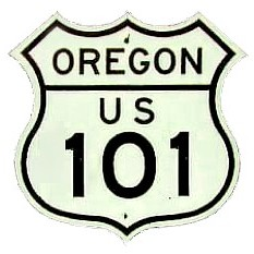 Historic shield for US 101 in Oregon