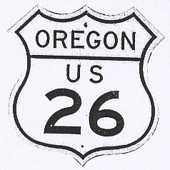 Historic shield for US 26 in Oregon