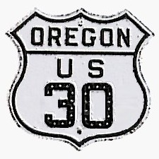 Historic shield for US 30 in Oregon
