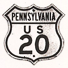 Historic shield for US 20 in Pennsylvania