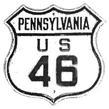 Historic shield for US 46 in Pennsylvania