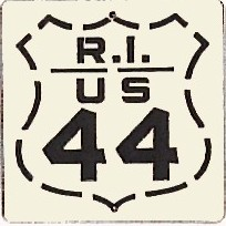 Historic shield for US 44 in Rhode Island