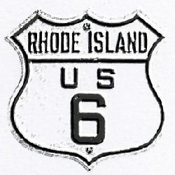 Historic shield for US 6 in Rhode Island