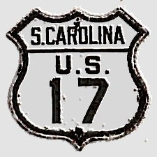 Historic shield for US 17 in South Carolina