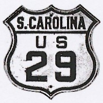 Historic shield for US 29 in South Carolina