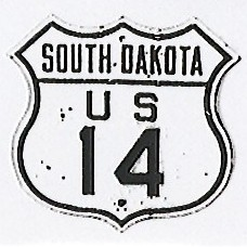 Historic shield for US 14 in South Dakota