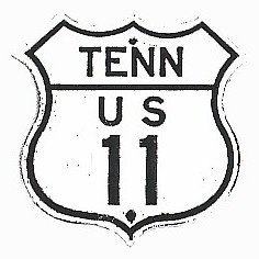 Historic shield for US 11 in Tennessee
