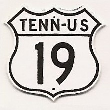 Historic shield for US 19 in Tennessee