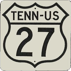 Historic shield for US 27 in Tennessee