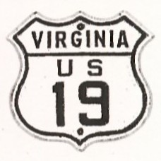 Historic shield for US 19 in Virginia
