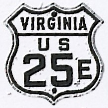 Historic shield for US 25E in Virginia