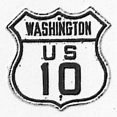 Historic shield for US 10 in Washington