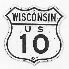Historic shield for US 10 in Wisconsin