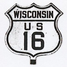 Historic shield for US 16 in Wisconsin