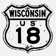 Historic shield for US 18 in Wisconsin