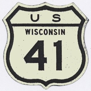 Historic shield for US 41 in Wisconsin