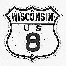 Historic shield for US 8 in Wisconsin