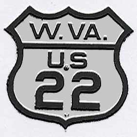 Historic shield for US 22 in West Virginia