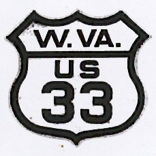 Historic shield for US 33 in West Virginia