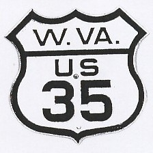 Historic shield for US 35 in West Virginia